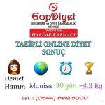 Demet Hanım -4 KG (Online Diyet)
